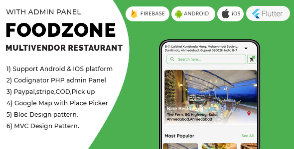 [Free Download] FoodZone Multivendor Mobile Application in Flutter with PHP Admin Panel (Nulled) [Latest Version]