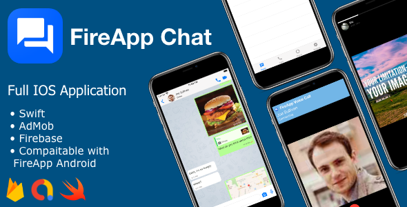 [Free Download] FireApp IOS – Complete Chatting App for IOS –  Inspired by WhatsApp (Nulled) [Latest Version]