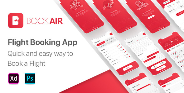 [Free Download] BookAir – UI Kit for Mobile App (Nulled) [Latest Version]
