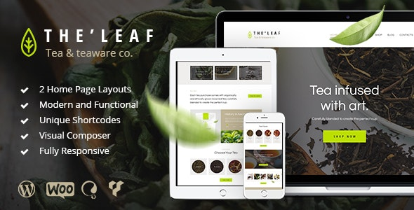 [Free Download] TheLeaf – Tea Production Company & Online Coffee Shop WordPress Theme (Nulled) [Latest Version]
