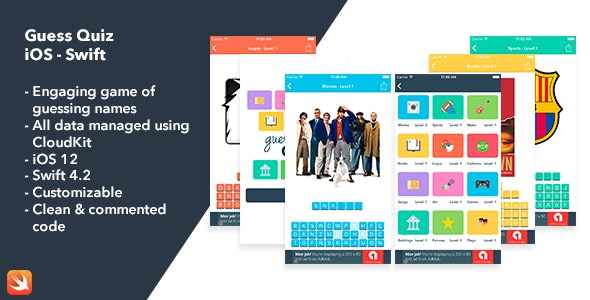 [Free Download] Guess Quiz – iOS Swift App (Nulled) [Latest Version]