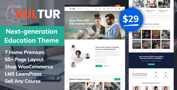 [Free Download] Vultur – LMS Education WordPress (Nulled) [Latest Version]