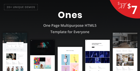 [Free Download] Ones – One Page Multipurpose HTML5 Template (Nulled) [Latest Version]