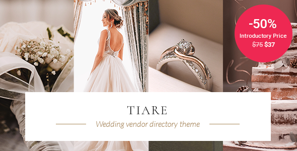[Free Download] Tiare – Wedding Vendor Directory Theme (Nulled) [Latest Version]