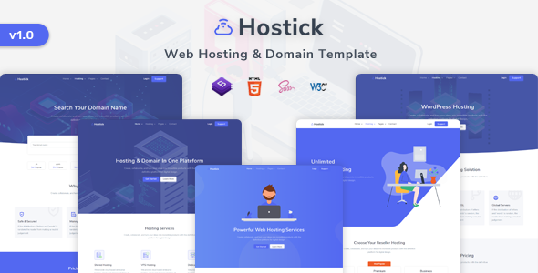 [Free Download] Hostick – Web Hosting & Domain HTML5 Template (Nulled) [Latest Version]