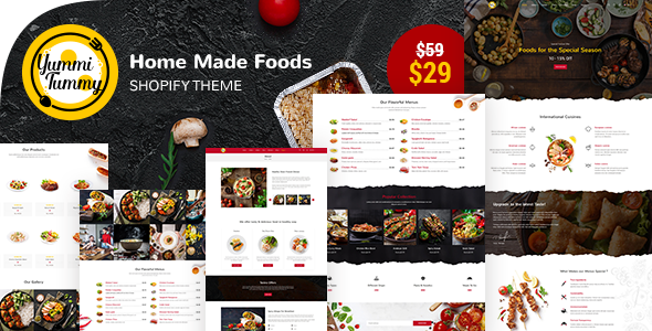 [Free Download] Yummi – Homemade Foods Shopify Theme (Nulled) [Latest Version]