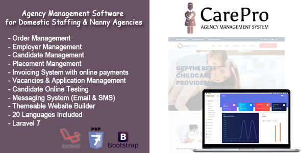 [Free Download] CarePro – Domestic Staffing Agency Management System (Nulled) [Latest Version]