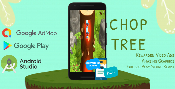 [Free Download] Chop Tree – Android Studio – AdMob Ads Reward Video (Nulled) [Latest Version]