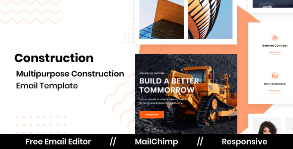 [Free Download] CONSTRUCT – Responsive Email Template for Construction With Free Email Editor (Nulled) [Latest Version]