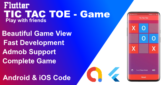 [Free Download] Flutter TicTacToe beautiful Game ( Android & iOS ) (Nulled) [Latest Version]