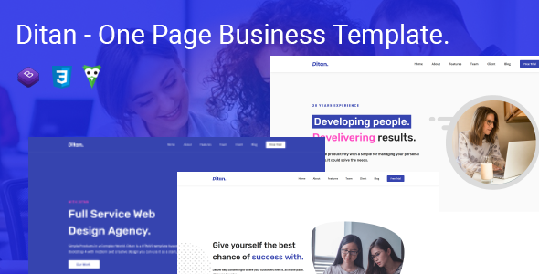[Free Download] Ditan – One Page Business Template (Nulled) [Latest Version]