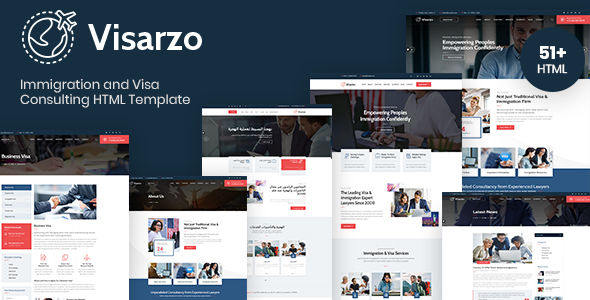 [Free Download] Visarzo – Immigration and Visa Consulting HTML Template (Nulled) [Latest Version]