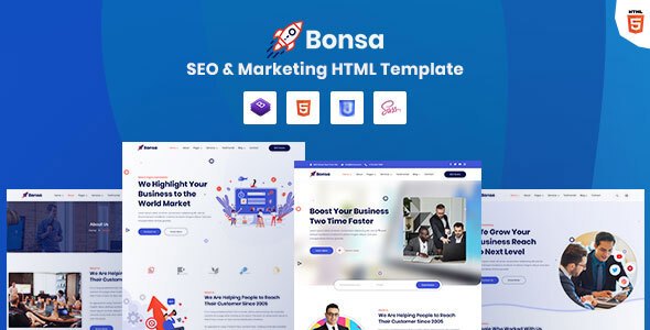 [Free Download] Bonsa – SEO & Marketing Company HTML Template (Nulled) [Latest Version]