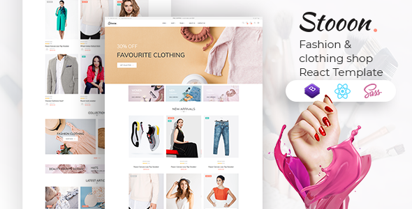 [Free Download] Stooon – eCommerce React Template (Nulled) [Latest Version]