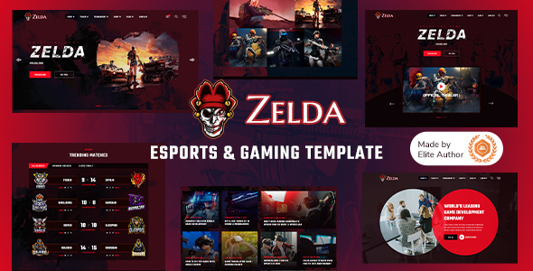 [Free Download] Zelda – eSports & Gaming Template (Nulled) [Latest Version]