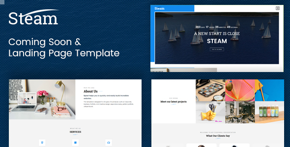 [Free Download] Steam – Coming Soon and Landing Page Template (Nulled) [Latest Version]