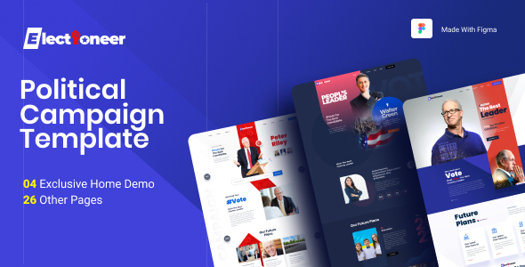 [Free Download] Electioneer-A political campaign and Event Figma Template (Nulled) [Latest Version]