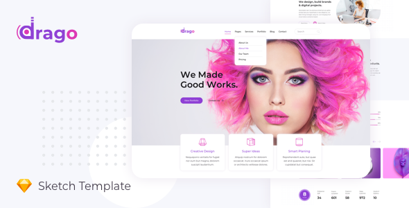 [Free Download] Drago — Creative and Digital Agency Sketch Template (Nulled) [Latest Version]