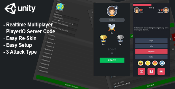 [Free Download] (Unity) Trivia Quiz Realtime Multiplayer + Server Code – Player.IO (Nulled) [Latest Version]