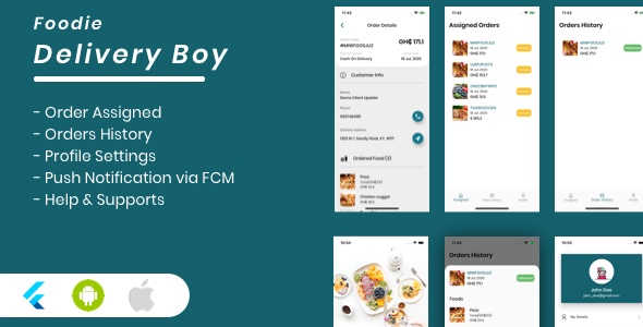 [Free Download] Foodie Delivery Boy For Foodie Multi-Restaurants Flutter App (Nulled) [Latest Version]