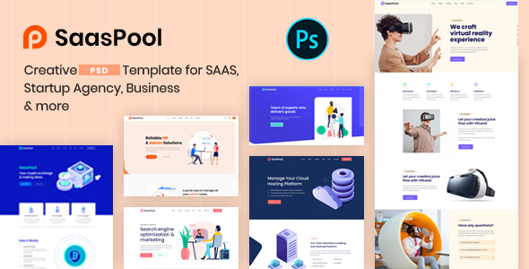 [Free Download] SaasPool – Creative Multipurpose PSD Template (Nulled) [Latest Version]