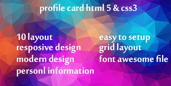 [Free Download] profile card html 5 & css3 (Nulled) [Latest Version]