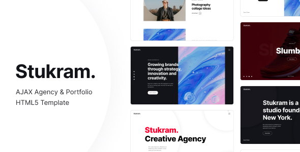 [Free Download] Stukram – AJAX Agency & Portfolio Template (Nulled) [Latest Version]