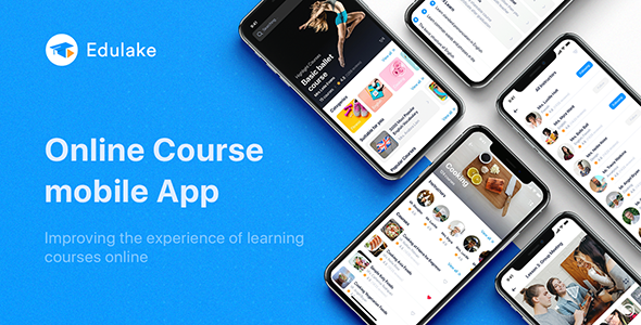 [Free Download] Edulake – Online Course UI Kit for Sketch (Nulled) [Latest Version]
