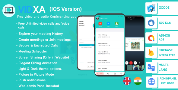 [Free Download] VIDXA (IOS Version) – Free Video Conferencing & Audio Conferencing App   Zoom Clone (Nulled) [Latest Version]