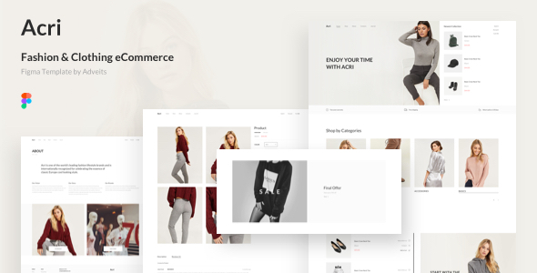 [Free Download] Acri – Fashion & Clothing eCommerce Figma Template (Nulled) [Latest Version]