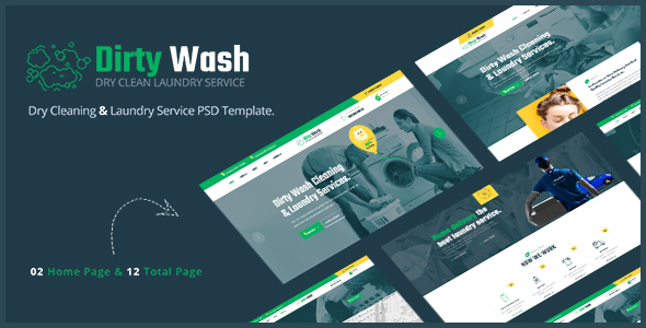 [Free Download] Dirty Wash – Dry Cleaning & Laundry Service PSD Template (Nulled) [Latest Version]