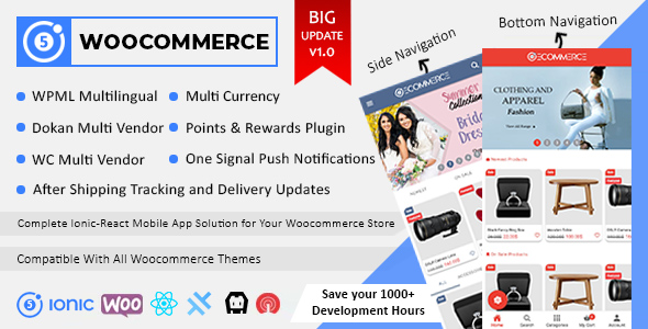 [Free Download] Ionic React Woocommerce – Universal Full Mobile App Solution for iOS & Android / WordPress Plugins (Nulled) [Latest Version]