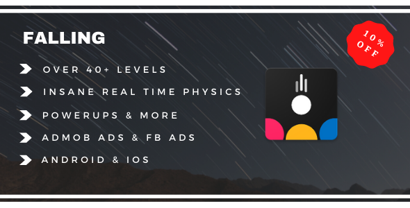 [Free Download] Falling | Android IOS Game | High Graphics | Admob IAP (Nulled) [Latest Version]