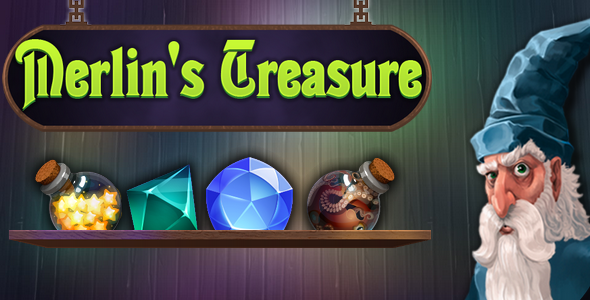 [Free Download] Merlin's Treasure – match3, capx (Nulled) [Latest Version]