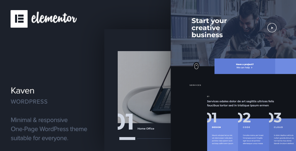 [Free Download] Kaven – Business One Page WordPress Theme (Nulled) [Latest Version]