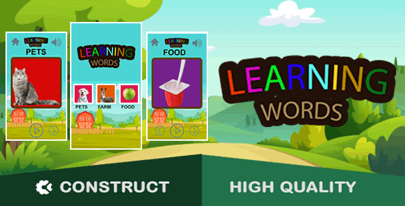 [Free Download] Learning Words – HTML5 Game (capx) (Nulled) [Latest Version]