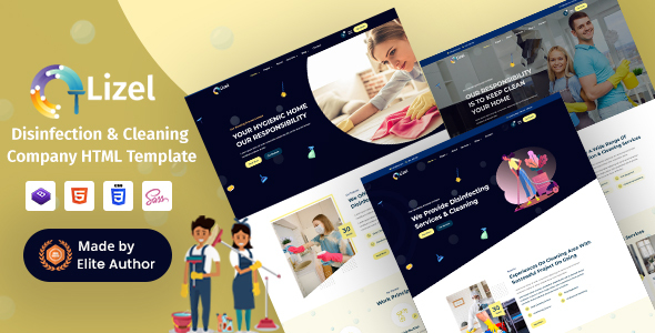 [Free Download] Lizel – Disinfection & Cleaning Company HTML Template (Nulled) [Latest Version]