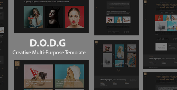 [Free Download] D.O.D.G – Creative Multi-Purpose Template (Nulled) [Latest Version]