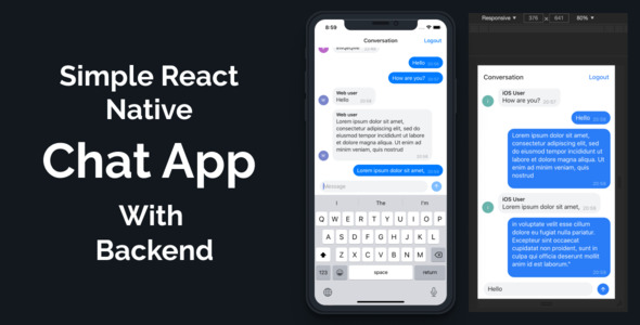 [Free Download] Simple React Native Chat App Based on Expo for iOS, Android and Web with Backend (Nulled) [Latest Version]