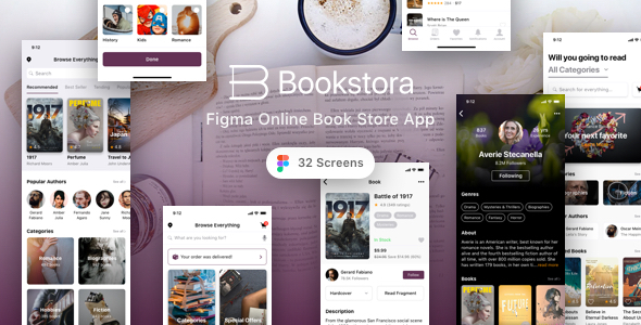[Free Download] Bookstora – Figma Online Book Store App (Nulled) [Latest Version]