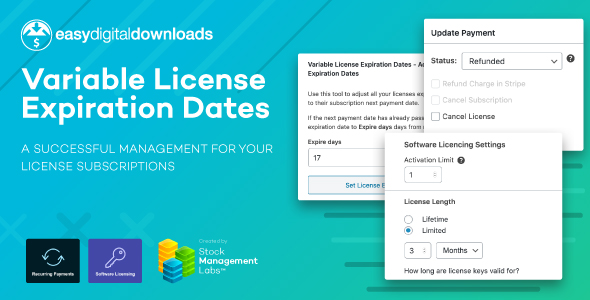 [Free Download] EDD Variable License Expiration Dates (Nulled) [Latest Version]