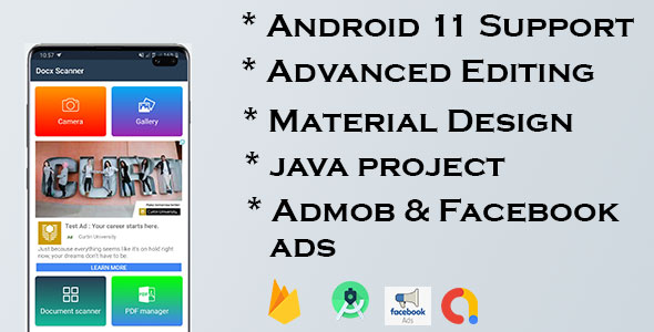 [Free Download] Doc Scanner – Android Cam Scanner App with Admob & Facebook Ads (Nulled) [Latest Version]