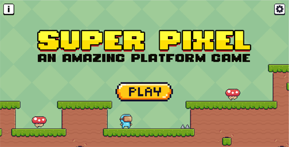 [Free Download] Platform Game 2D Side Scroller – Super Pixel (Construct 3) (Nulled) [Latest Version]