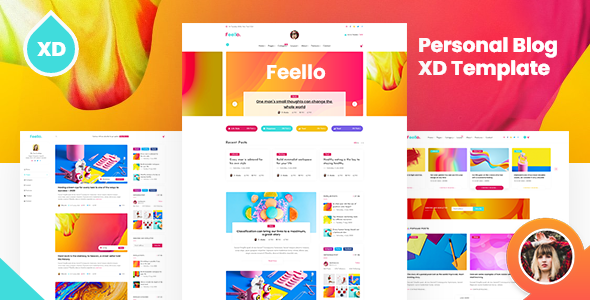 [Free Download] Feello – Personal Blog XD Template (Nulled) [Latest Version]