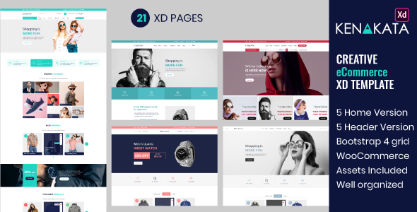 [Free Download] Kenakata – Creative eCommerce Adobe XD Template (Nulled) [Latest Version]