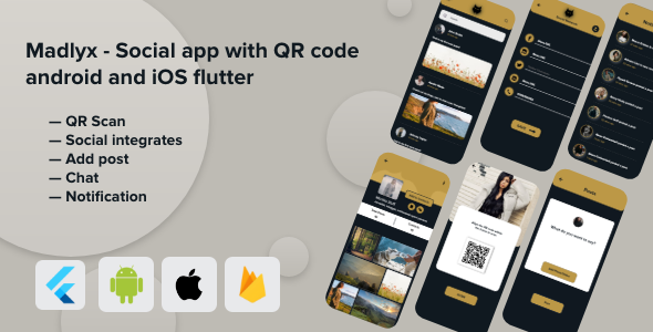 [Free Download] Madlyx – Social app with QR code android and iOS flutter (Nulled) [Latest Version]