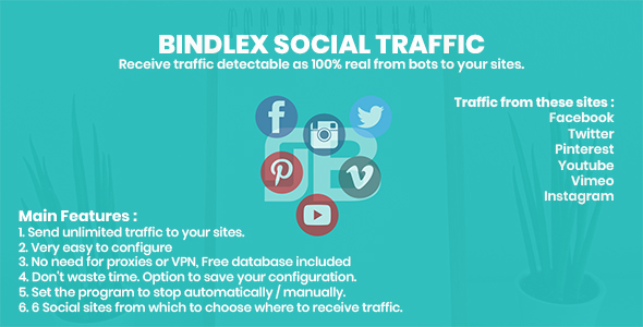 [Free Download] Bindlex Social Traffic (Nulled) [Latest Version]