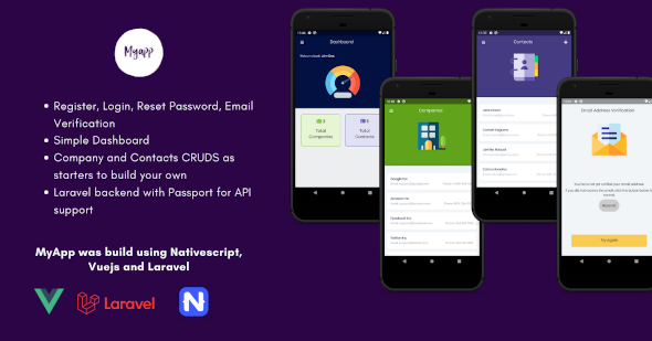 [Free Download] MyApp – NativeScript Vue Mobile App with Laravel Backend (Nulled) [Latest Version]
