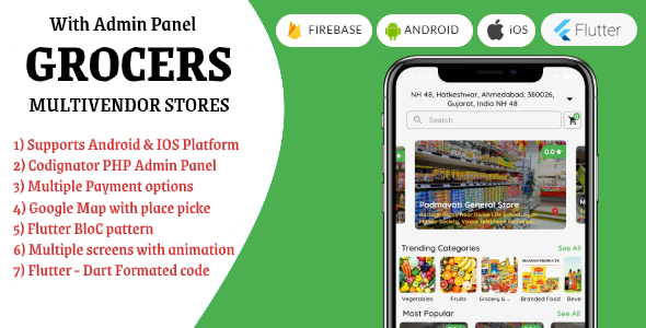 """[Free Download] """"Grocers"""" Multivendor Grocery Stores with Flutter + PHP Admin Panel (Nulled) [Latest Version]"""