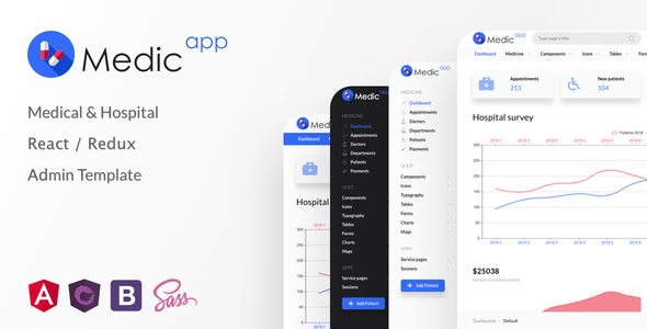 [Free Download] MedicApp – Medical & Hospital React/Redux admin template (Nulled) [Latest Version]